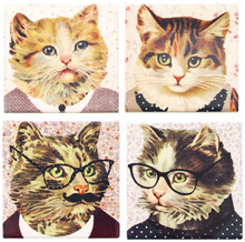Set of 4 Cat Dress-up Coasters