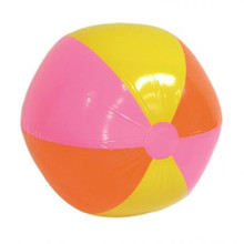 Inflatable Beachball - Sold Single.  Size: 60cm.  Material: Plastic.  Assorted Colours.  A fun ball for Hawaiian, Beach or Pool themed parties.