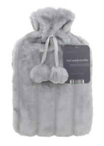 Hot Water Bottles- Furry- Light Grey