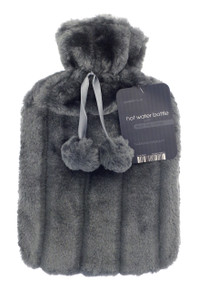 Hot Water Bottles- Furry- Dark Grey