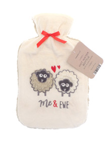 Hot Water Bottle with Soft Plush Sherpa- Me and Ewe