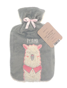 Hot Water Bottle with Soft Plush Sherpa- Llama