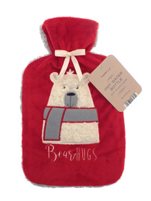 Hot Water Bottle with Soft Plush Sherpa- Beer
