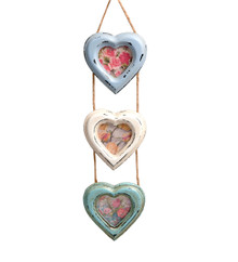 Delilah Triple Heart Hanging Photo Frame Small