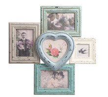 Distressed Heart  Multi Photo Frame