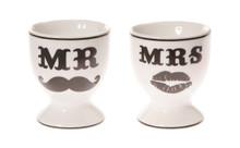 Sass & Belle Set Of 2 Mr & Mrs Egg Cups