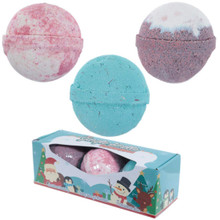 Set of 3 Jingle Smells Bath Bombs - Christmas Scents