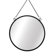 Sass & Belle Monochrome Black Round Mirror