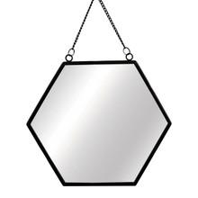 Sass & Belle Monochrome Black Hexagon Mirror