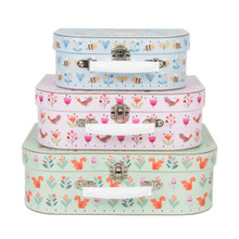 SET OF 3 WOODLAND FRIENDS SUITCASES