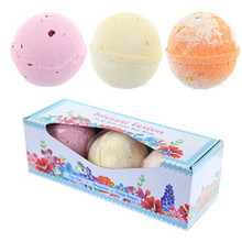 Set of 3 Floral Scents Botanical Garden Bath Bombs.