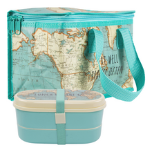 Sass & Belle Vintage Map Bento Lunch Box and Lunch Bag