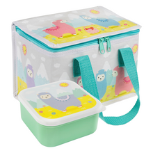 Sass & Belle Little Llama Lunch Box and Lunch Bag