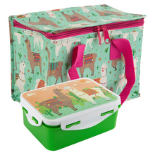 Sass & Belle Lima Llama Lunch Box and Lunch Bag