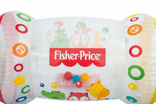 Fisher-Price Inflatable Baby Roller-Rattle, Sound, Crawling, Pushing Activity