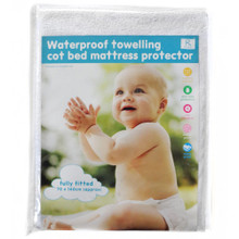 Fitted Waterproof Terry Towelling Baby Cot Bed Mattress Protector