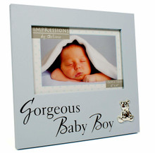 Baby Boy Photo Frame New Born Christening Gift Present