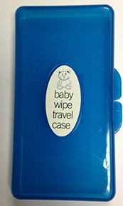 Brand New Baby Wipe Case Carry Along Box Changing Dispenser Home Holiday Use Wet Wipe Case (Blue)