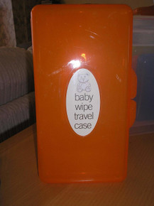 Brand New Baby Wipe Case Carry Along Box Changing Dispenser Home Holiday Use Wet Wipe Case (Orange)