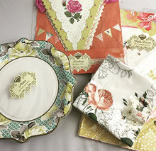 B4E Talking Tables Truly Scrumptious Vintage Party Tableware Multi Pack Set