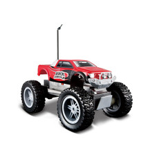 Maisto Tech RC Radio Controlled Rock Crawler Jr.   Smaller version of the original Rock Crawler that is ideal for younger radio control enthusiasts looking for an entry level vehicle.   The front and rear suspensions are articulated to allow greater manoeuvrability across uneven terrain which is aided further by the large wheels  4X4 RC TOY Great Rock Crawler in smaller size  Approx 8 inches long  Articulated Front and Rear Suspensions  Requires 4 AA batteries for vehicle and 3AAA for control (not included)