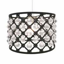 Easy Fit Pendant Light Shade Bijou Gems Ceiling Decoration  ( Black)