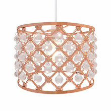 Easy Fit Pendant Light Shade Bijou Gems Ceiling Decoration  ( Copper)