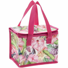 Tropical Paradise Flower Design Insulated Lunch Bag