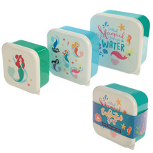 Set of 3 Lunch Boxes- Enchanted seas Mermaid