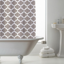 Country Club Shower Curtain Moroccan Mink