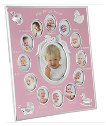 My First Year Baby Frame Pink