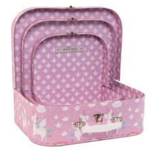 Rainbow Unicorn Suitcases - Set of 3