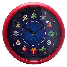 PMS MUSICAL CHRISTMAS WALL CLOCK IN COLOUR BOX