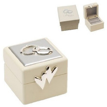 Beautiful Wedding Ring Box  A beautiful cream wedding ring box with two love hearts on the box.  Perfect for your special day.