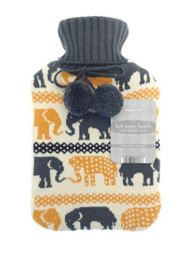 Hot Water Bottles with Trendy Knitted Cover-Elephant