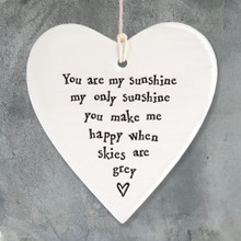 Porcelain round heart-You are my sunshine