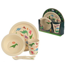 Bambootique Eco Friendly Dinosaur Reusable Bamboo Set