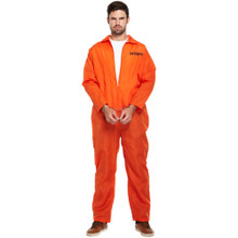 "Classic Orange Prisoner Overall Jumpsuit Boiler Suit Convict Prison Inmate Fancy Dress Costume Outfit Prisoner Fancy Dress Costume Adult One Size. • Shoulder Width : 24"" • Chest Width : 24"" • Waist Width : 23"" • Inside Leg : 28""  perfect for any fancy dress event"