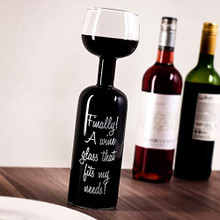 Wine Bottle Glass - Finally! A Wine Glass That Fits My Needs