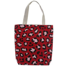 Wild Life Animal Print Cotton Bag with Zip and Lining