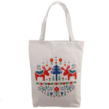 Scandi Design Cotton Bag with Zip and Lining