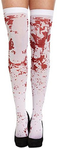 Adults Spooky White Hold Up Blood Stained Womens Stockings