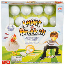 Help the Chickens by moving the eggs from the frying pan before someone has them for breakfast!   Great family fun or for when you little ones have friends over.      Game contains:  •2 x Plastic Nests •Cardboard Frying pan •2 x Chicken Magnets •2 x Beaks