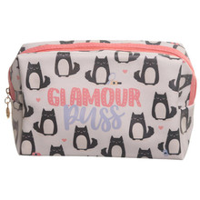 Feline Fine Cat Toilette Makeup PVC Wash Bag