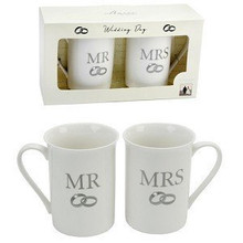Amore 2 Piece Mug Gift Set - Mr & Mrs Dimensions : 30.6 x 14.4 x 9.2 cm