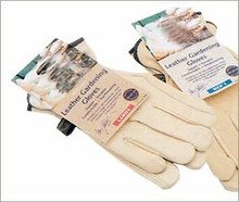 Supple leather gloves for gardener • Strong to stop thorns • Gardening gloves