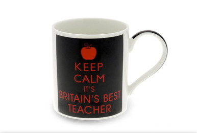 Keep Calm Best Teacher Mug 10 cm mug height •Perfect gift idea for a teacher •Lovely Keep Calm Design fine china mug •A refreshing design, sure to be a winner with any teacher