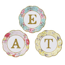 Talking Tables Truly Scrumptious Small Paper Plates 'Eat' Design for a Tea Party or Birthday