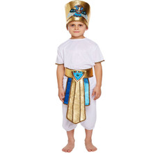 Egyptian Tutankhamun Pharaoh King Childrens Boys Fancy Dress Costume Book Week Outfit (4-6 years)