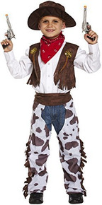 Child Cowboy Fancy Dress Large 10-12 Years